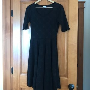 LulaRoe Nicole dress black